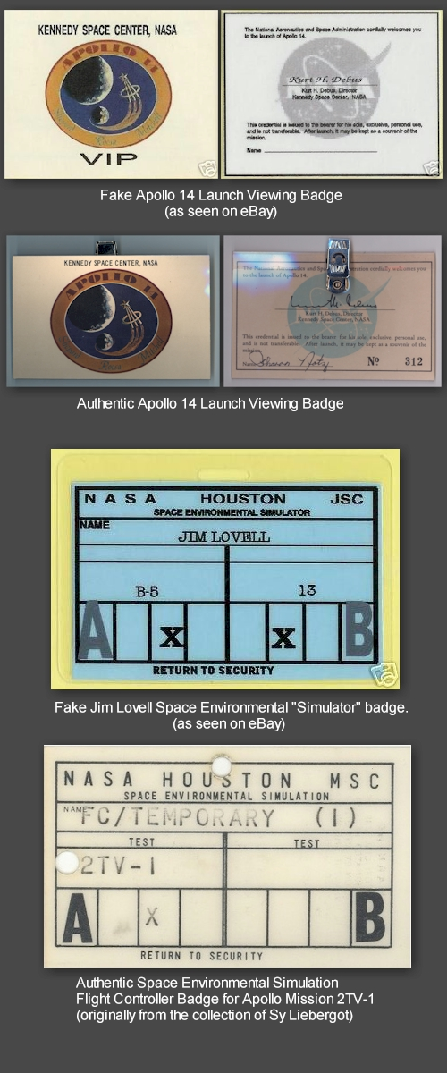 NASA/contractor ID badges and passes - collectSPACE